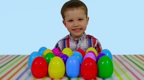 Видео 20 открывает яйца сюрприз игрушки