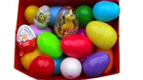 Видео 21 Киндер Сюрприз открываем пластиковые шоколадные яйца игрушки Kinder Surprise