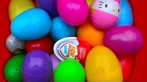 Видео 21 Сюрприз в яйцах / обзор игрушек