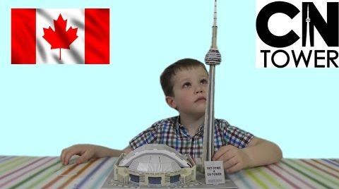 Видео 3D пазл складываем башню CN Tower