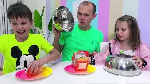 Видео Алфавит из конфет от Макс и Катя