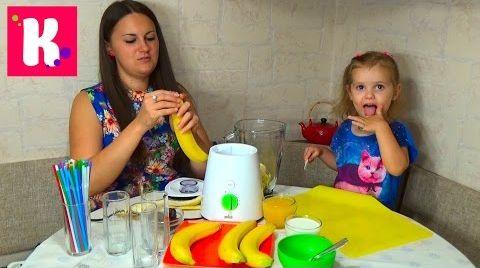 Видео Бананово - финиковый коктейль/ делаем дома