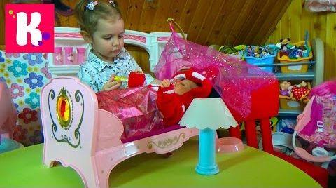 Видео Беби Борн игрушечная кроватка для куклы  / распаковка игрушки