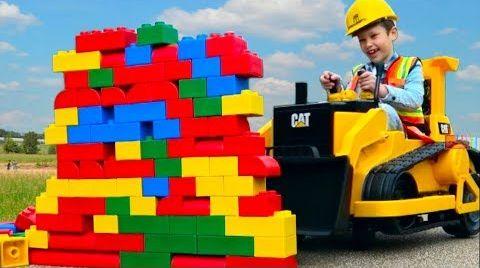Видео БУЛЬДОЗЕР - машинка для детей Kids ride on bulldozer CARS