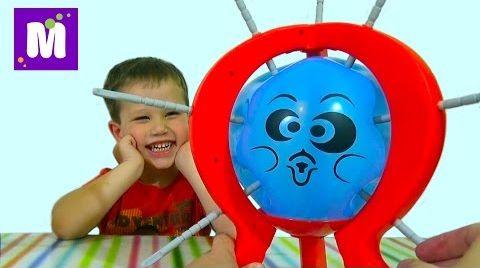 Видео Бум бум баллун игра распаковка игрушка