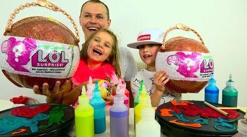 Видео Челлендж LOL Big Surprise розыгрыш и Pancake art CHALLENGE / Шары ЛОЛ нашли своих хозяев