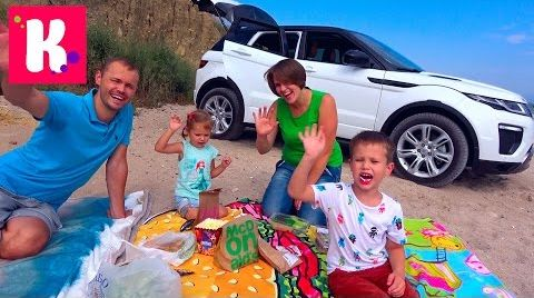 Видео Челлендж Пикник на машинах / Мальчики против Девочек / Едем на море