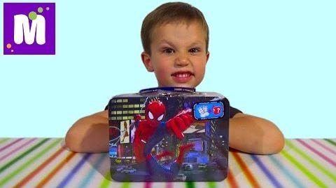 Видео Человек-паук чемоданчик сюрприз распаковка Спайдермен