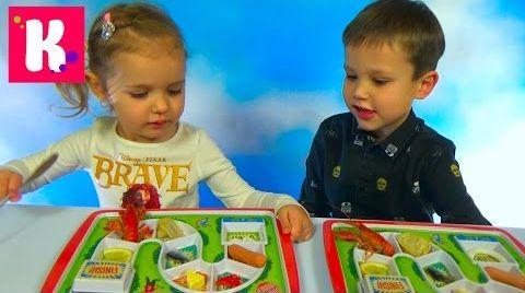Видео Чемпион обеда!  Макс и Катя кушают на скорость / В награду Тетрис