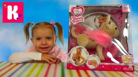 Видео Chi Chi Love Собачка Принцесса /Обзор игрушек / Гуляем на деткой площадке