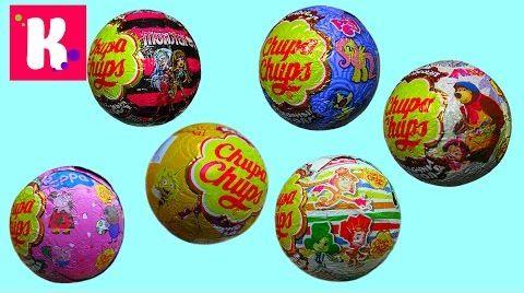 Видео Чупа Чупс шары с сюрпризом
