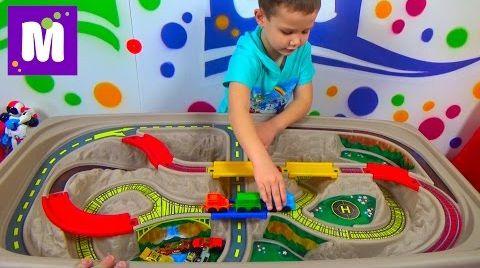 Видео Cтол - трек Дорога над Каньоном Степ2 распаковка детского стола