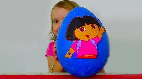 Видео Даша Путешественница большое яйцо с сюрпризом/ обзор игрушек