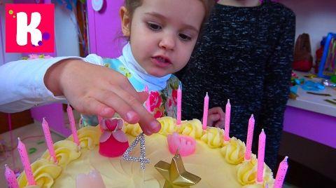 Видео День рождения Кати 4 года Шоколадные туфли Лабутэны / Шикарная машина Порше / Мир Сильваниан Фэмилис