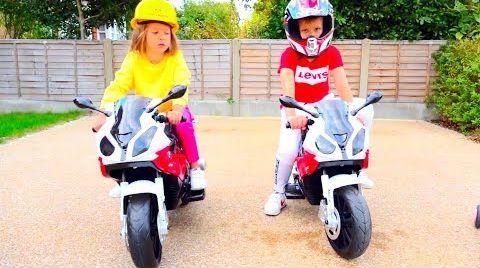 Видео Дети устроили гонки на мотоциклах