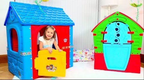 Видео Дети устроили магазин по продаже игровых домиков