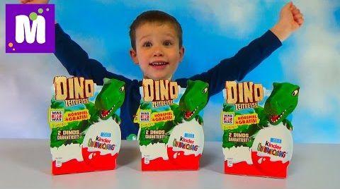 Видео Динозавр Киндеры распаковка Dinosaur Kinder Surprise