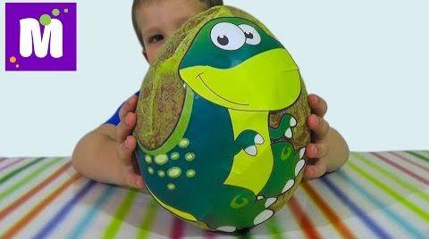 Видео Динозавры огромное яйцо с сюрпризами открываем игрушки