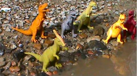 Видео Динозавры в луже на русском Dinosaurs
