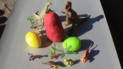 Видео Динозавры Яйца сюрприз ПлэйДо Play-Doh тесто