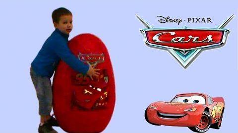 Видео Дисней Тачки Огромное яйцо игрушки