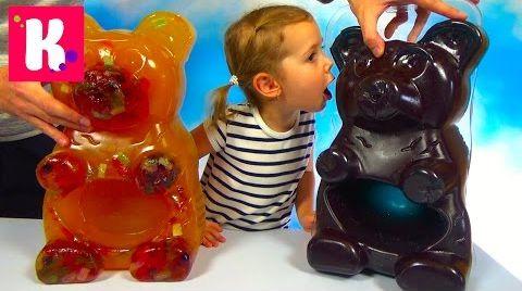 Видео DIY Огромный желейный Мега Медведь