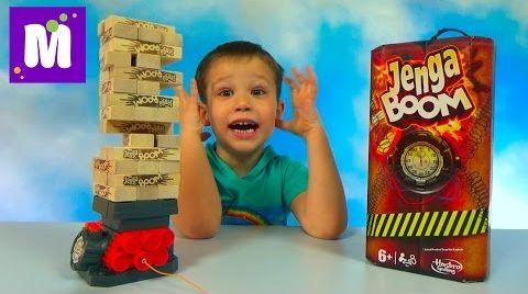 Видео Дженга Бум играем в игру строим башню на бомбе Jenga Boom