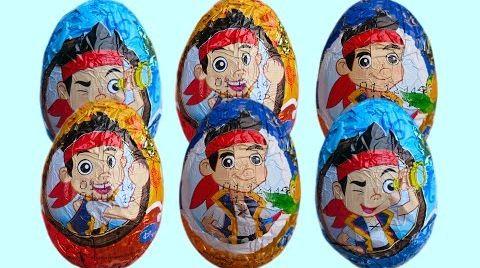 Видео Джейк и пираты Нетландии яйца игрушки распаковка