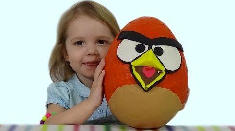 Видео Энгри Бердс огромное яйцо с сюрпризом открываем ANGRY BIRDS