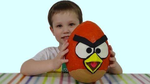 Видео Энгри Бердс огромное яйцо с сюрпризом открываем игрушки
