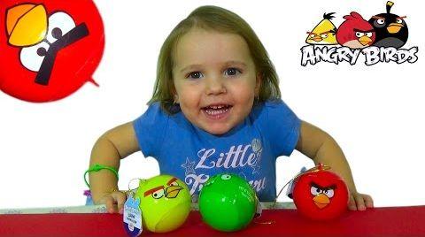 Видео Энгри Бердс шары с сюрпризом/ обзор игрушек