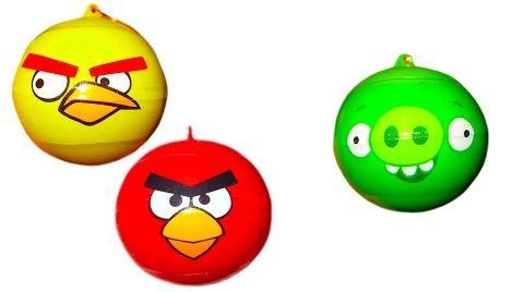 Видео Энгри Бердс шары с сюрпризом открываем игрушки Angry Birds