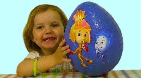 Видео Фиксики большое яйцо с сюрпризом/ обзор игрушек