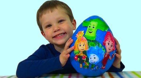Видео Фиксики огромное яйцо с сюрпризом открываем игрушки