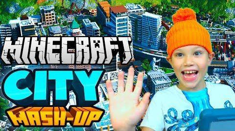 Видео ГДЕ ВСЕ???!!! Безлюдный город City MashUp Minecraft