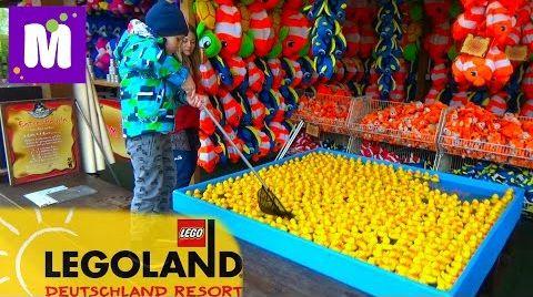 Видео Германия #1 Леголенд парк аттракционов Макс выиграл игрушки в воде
