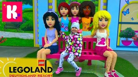Видео Германия #2. Леголенд парк аттракционов/ Катя катается на игрушечном паровозике/ Legoland Germany