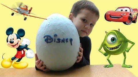 Видео Герои ДИСНЕЙ огромное яйцо с сюрпризом открываем игрушки