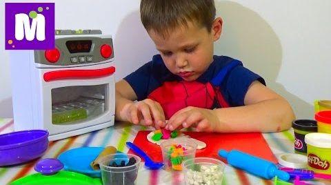 Видео Готовим блинчики с начинкой и играем с детской плитой