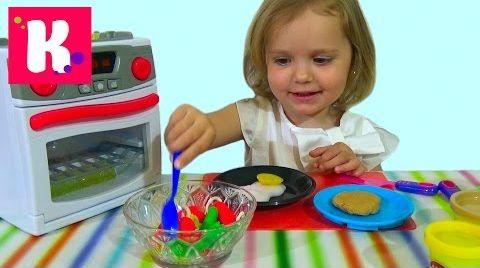 Видео Готовим завтрак из пластилина