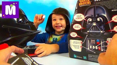 Видео Говорящий Шлем Дарта Вейдера Speaking Darth Vader Helmet Star Wars