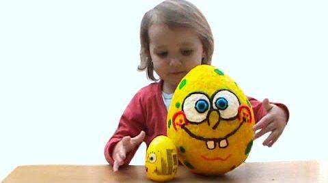 Видео Губка Боб огромное яйцо с сюрпризом /обзор игрушек
