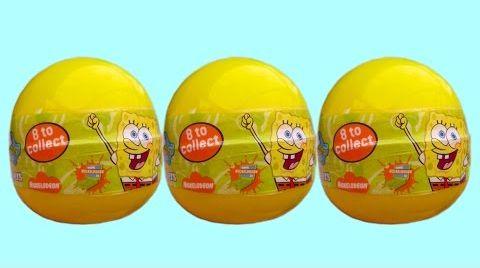 Видео Губка Боб яйца сюрприз игрушки распаковка