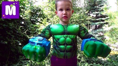 Видео Халк большой камень с игрушками Марвел распаковка