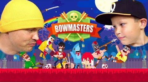 Видео HEADSHOT Скелет против Тора и Хипстера в Bowmasters