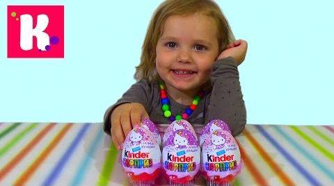 Видео Хелло Китти Киндер Сюрприз/ распаковка игрушек