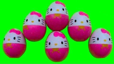 Видео Хелло Китти яйца с игрушками