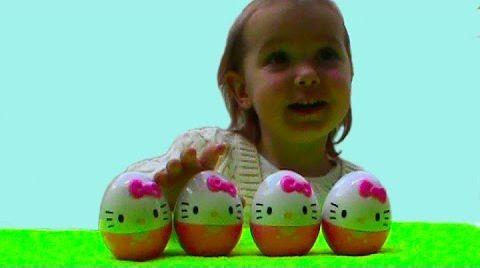 Видео Хелло Китти яйца с сюрпризом / обзор игрушек