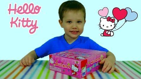 Видео Хелло Китти яйца с сюрпризом открываем игрушки HELLO KITTY