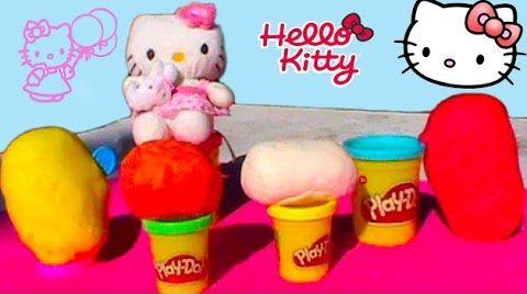 Видео Хелло Китти Яйца сюрприз ПлэйДо Play-Doh тесто игрушки